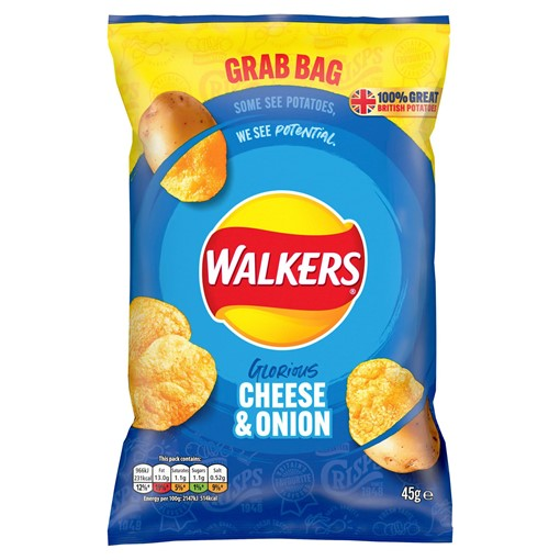 Picture of Walkers Cheese & Onion Crisps 45g