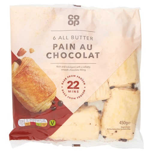 Picture of Co-op 6 All Butter Pain Au Chocolat 450g