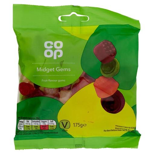 Picture of Co-op Midget Gems Fruit Flavour Gums 175g