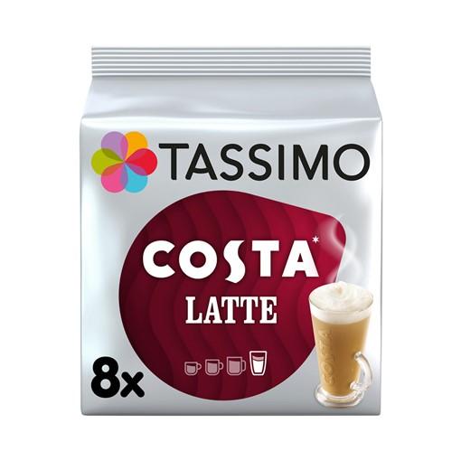 Picture of Tassimo Costa Latte Coffee Pods x8