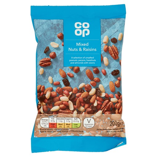 Picture of Co-op Mixed Nuts & Raisins 200g