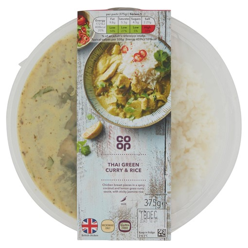 Picture of Co-op Thai Green Curry 375G