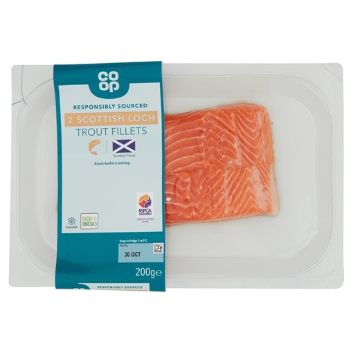 Picture of Co-op 2 Scottish Loch Trout Fillets 200g