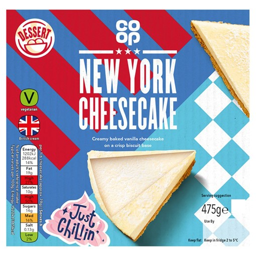 Picture of Co-op New York Cheesecake 475g