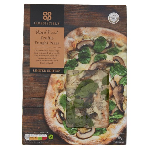 Picture of Co-op Irresistible Limited Edition Wood Fired Truffle Funghi Pizza 450g