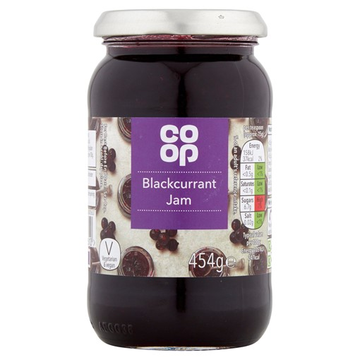 Picture of Co-op Blackcurrant Jam 454g