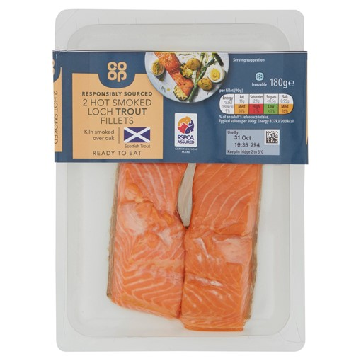 Picture of Co-op 2 Hot Smoked Loch Trout Fillets 180g