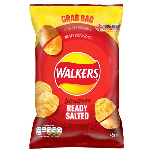 Picture of Walkers Ready Salted Crisps 45g