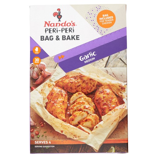 Picture of Nando's Peri-Peri Bag & Bake Garlic Medium 20g