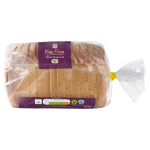 Picture of Co-op Free From White Sliced Loaf 500g