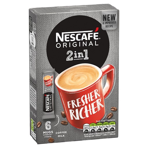 Picture of Nescafe Original 2in1 Instant Coffee, 6 sachets x 10g