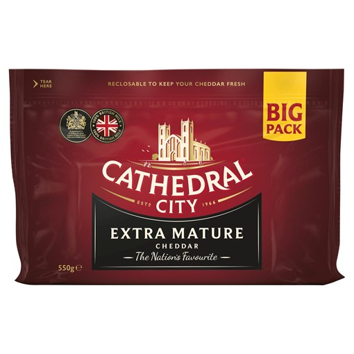 Picture of Cathedral City Extra Mature Cheddar Cheese 550g