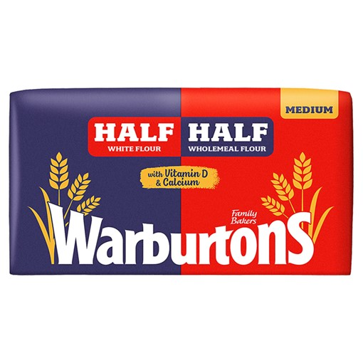 Picture of Warburtons Half White Half Wholemeal Medium 800g