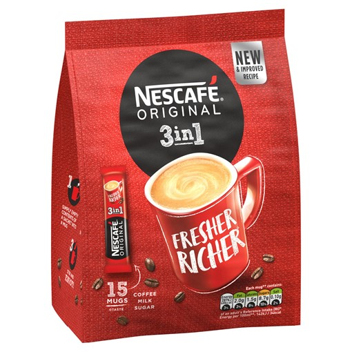 Picture of Nescafe Original 3in1 Instant Coffee 15 x 17g Sachets