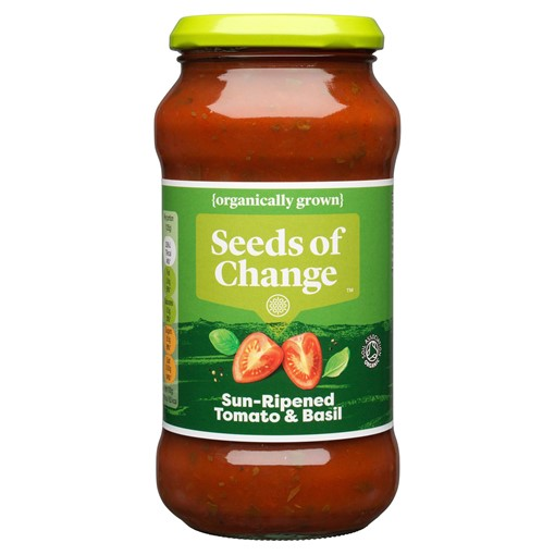 Picture of Seeds of Change Tomato and Basil Organic Pasta Sauce 500g