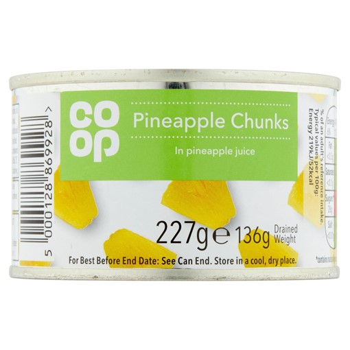 Picture of Co-op Pineapple Chunks in Pineapple Juice 227g