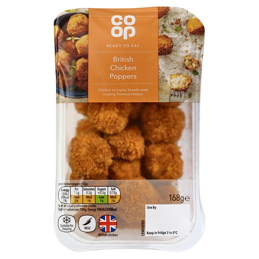 Picture of Co-op British Chicken Poppers 168g