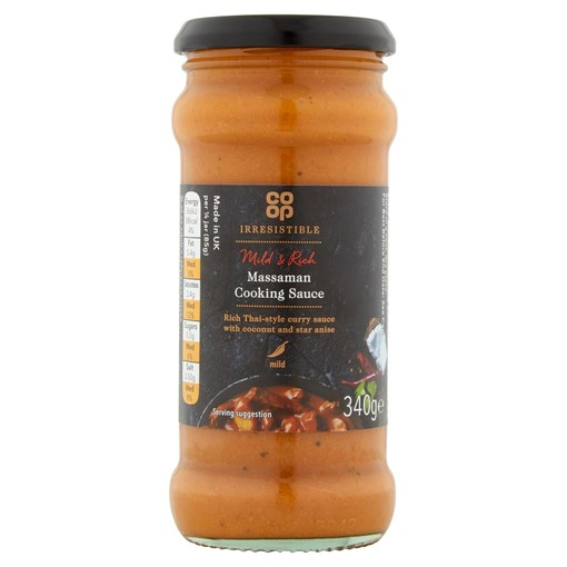 Picture of Co-op Irresistible Massaman Cooking Sauce 340g
