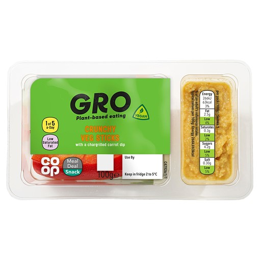 Picture of Co-op GRO Crunchy Veg Sticks 100g