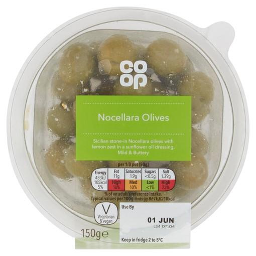 Picture of Co-op Nocellara Olives 150g