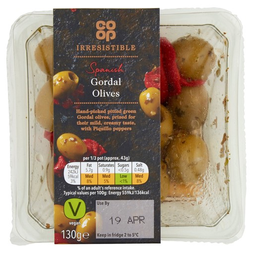 Picture of Co-op Irresistible Spanish Gordal Olives 130g