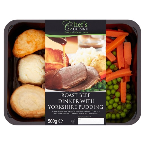 Picture of Chef's Cuisine Roast Beef Dinner with Yorkshire Pudding 500g