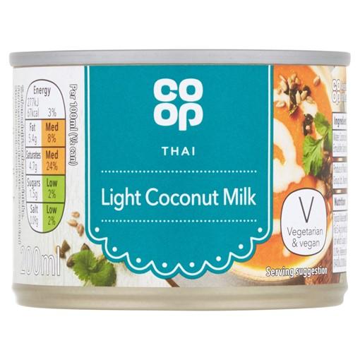 Picture of Co-op Thai Light Coconut Milk 200ml