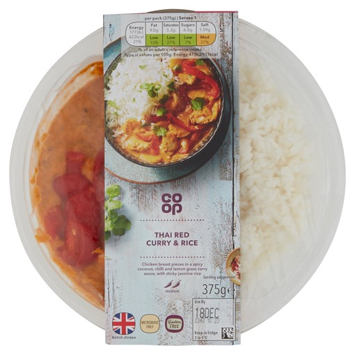Picture of Co-op Thai Red Curry & Rice 375g