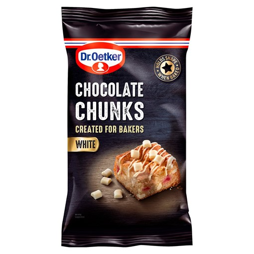 Picture of Dr. Oetker White Chocolate Chunks 100g