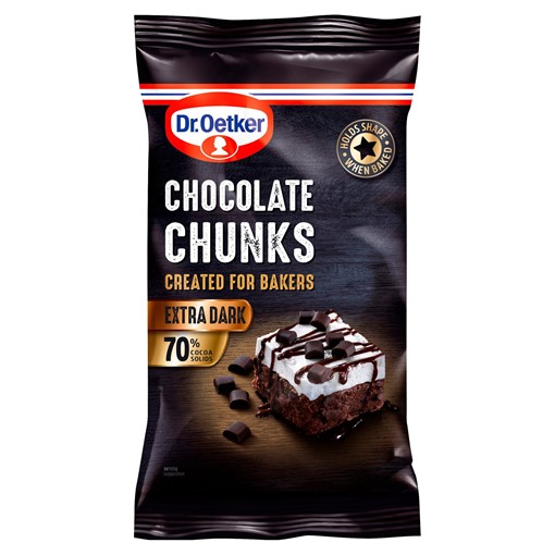 Picture of Dr. Oetker Extra Dark Chocolate Chunks 100g