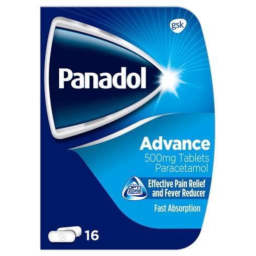 Picture of Panadol Advance Pain Relief Tablets, 500 mg Paracetamol Tablets, Pack of 16