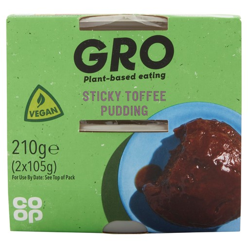 Picture of Co-op GRO Sticky Toffee Pudding 2 x 95g (190g)