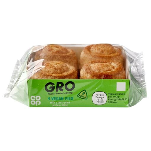 Picture of Co-op GRO 4 Vegan Pies 200g