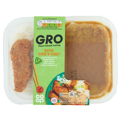Picture of Co-op GRO Katsu Chick'n Curry 350g
