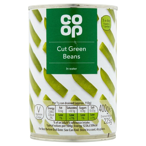 Picture of Co Op Cut Green Beans in Water 400g