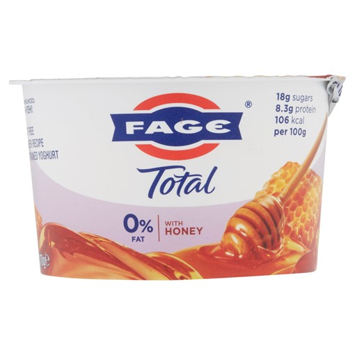 Picture of FAGE Total 0% Fat Free Greek Recipe Strained Yoghurt with Honey 170g