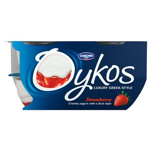 Picture of Oykos Strawberry Greek Style Yogurt 4 x 110g