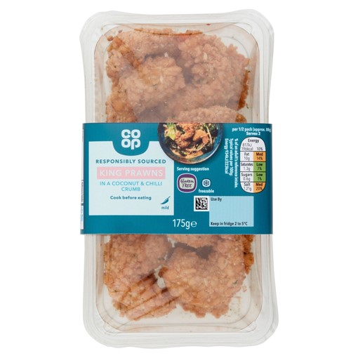 Picture of Co-op King Prawns in a Coconut & Chilli Crumb 175g