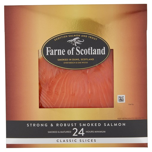 Picture of Farne of Scotland Strong & Robust Smoked Salmon 100g