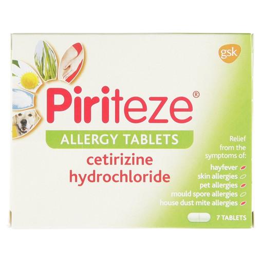 Picture of Piriteze Antihistamine Allergy Relief Tablets, Cetirizine - Pack of 7