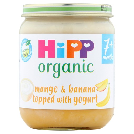 Picture of HiPP Organic Mango & Banana Topped with Yogurt Baby Food Jar 7+ Months 160g