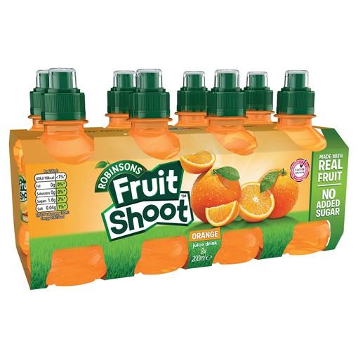Picture of Robinsons Fruit Shoot Orange Juice Drink 8 x 200ml