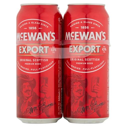Picture of McEwan's Export Original Scottish Premium Beer 4 x 500ml
