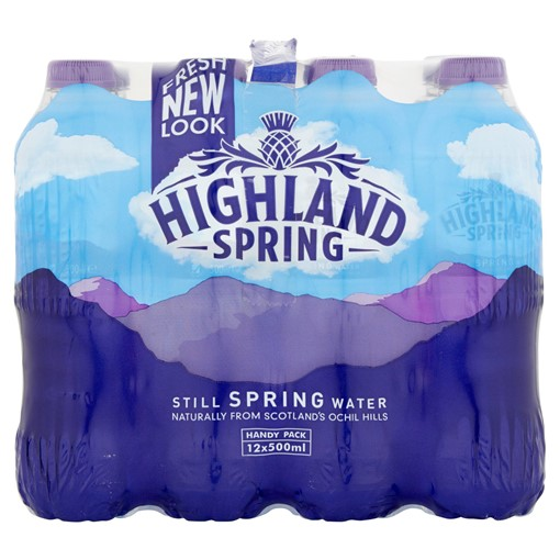 Picture of Highland Spring Still Spring Water 12 x 500ml
