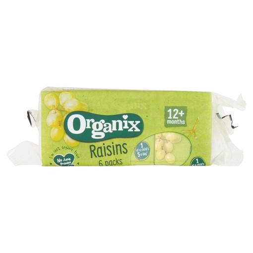 Picture of Organix Mini Organic Raisin Fruit Snack Boxes Multipack 6 x 14g