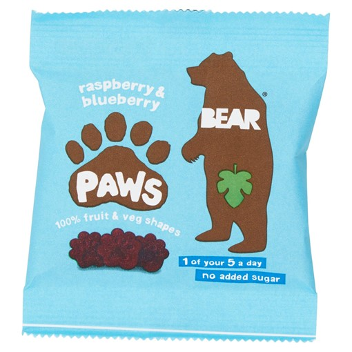 Picture of BEAR Pure Fruit Paws Raspberry & Blueberry 20g