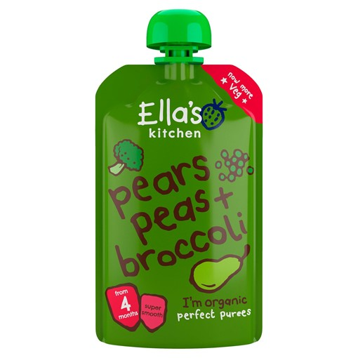 Picture of Ella's Kitchen Pears Peas + Broccoli from 4 Months 120g