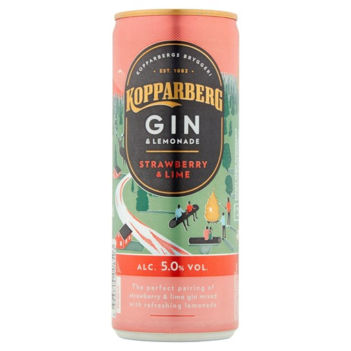 Picture of Kopparberg Gin & Lemonade Strawberry & Lime 250ml