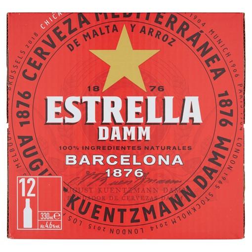 Picture of Estrella Damm Premium Lager Beer 12 x 330ml
