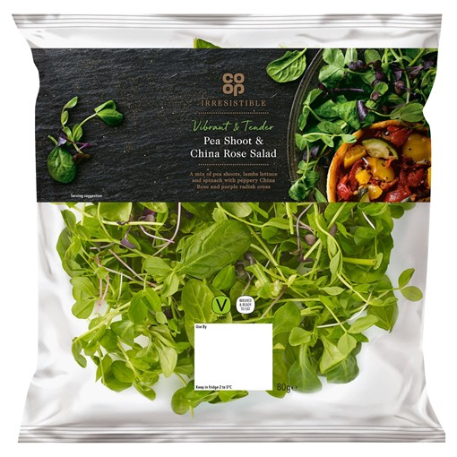Picture of Co-op Irresistible Pea Shoot & China Rose Salad 80g